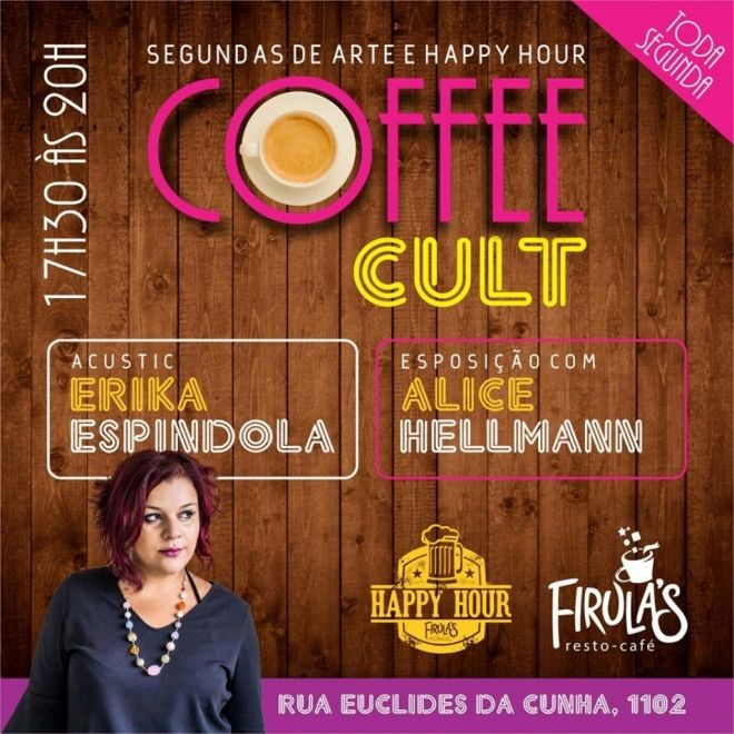 Happy hour cultural tem live painting e música ao vivo