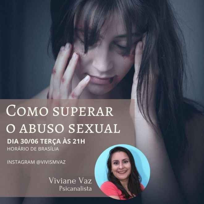"Live fala de ""como superar o abuso sexual"""
